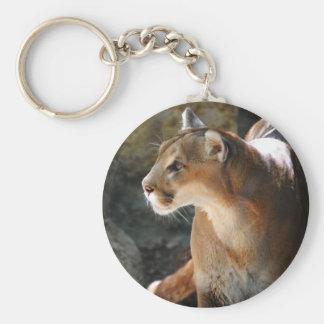 Intense Cougar Keychain