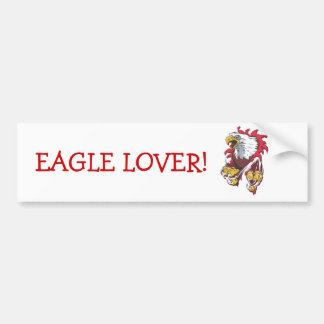 Intense Eagle Bumper Sticker