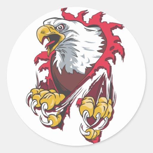 Intense Eagle Classic Round Sticker