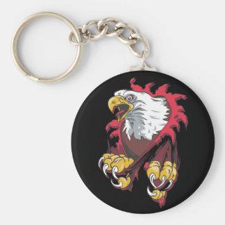 Intense Eagle Key Chain
