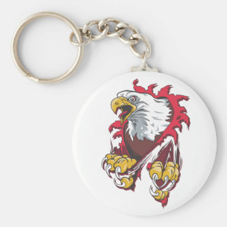 Intense Eagle Keychain