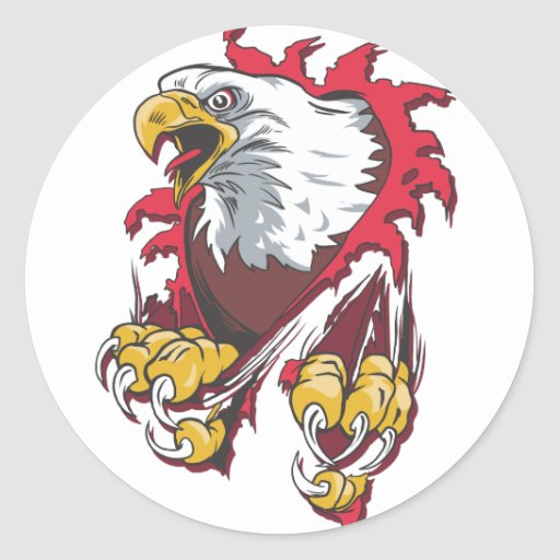 Intense Eagle Round Stickers