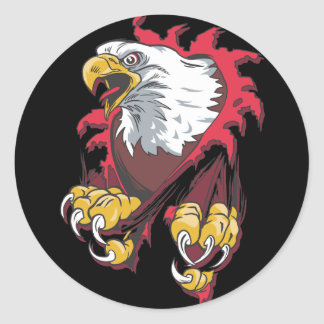 Intense Eagle Stickers