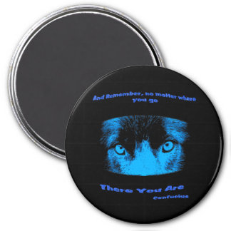 Intense Eyes Confucius Inspirational Quote Magnet