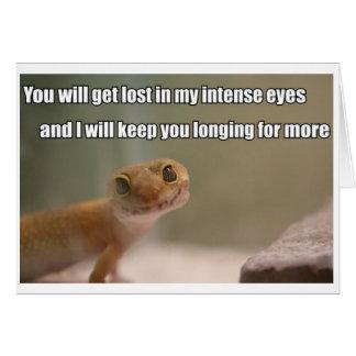 Intense Eyes Gecko greeting card