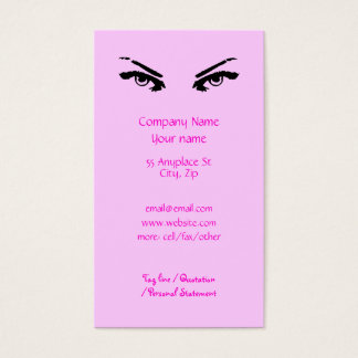 Intense Eyes of a Woman business card templates
