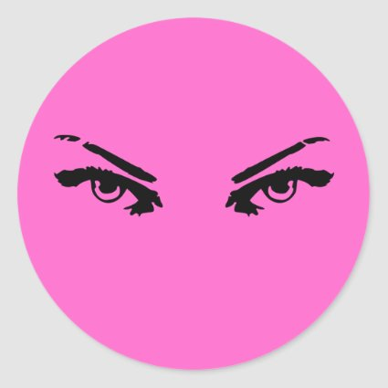 Intense Eyes of a Woman Classic Round Sticker