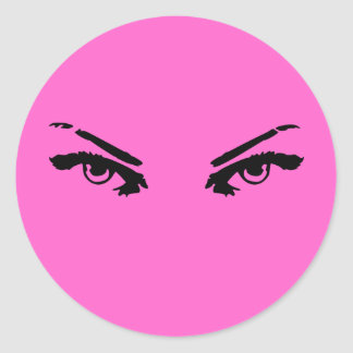 Intense Eyes of a Woman Round Stickers