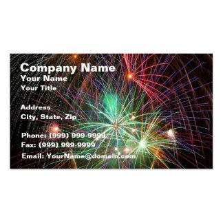 Intense Fireworks Business Card