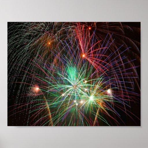 Intense Fireworks Print