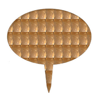 INTENSE Gold Biscuit Collage Pattern Graphic GIFTS Cake Topper