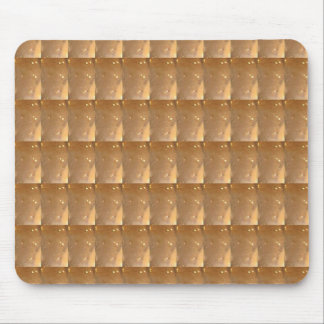 INTENSE Gold Biscuit Collage Pattern Graphic GIFTS Mouse Pad