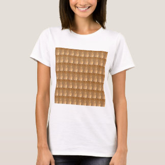 INTENSE Gold Biscuit Collage Pattern Graphic GIFTS T-Shirt