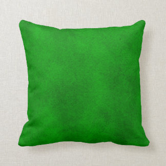 Intense Green Watercolor Wash Pillow