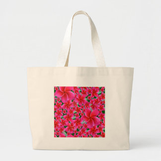 Intense Pink Flowers Jumbo Tote Bag