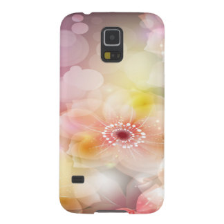 Intense Pink Flowers Case For Galaxy S5