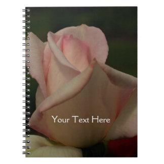 Intense Pink Rosebud Flower Nature Notebook
