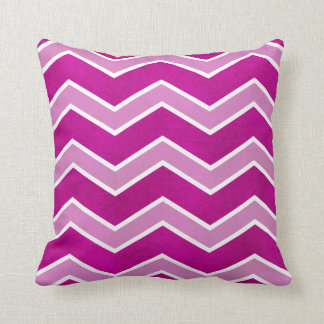Intense Pink Watercolor Wash Large Chevron Pillow