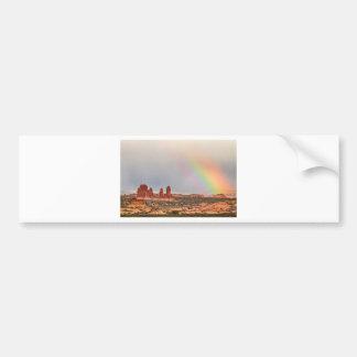 Intense Rainbow Car Bumper Sticker