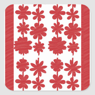INTENSE red artist created tone: Great Match Color Square Stickers