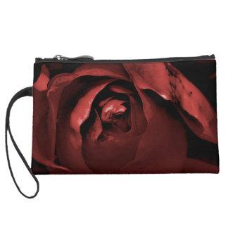 Intense Red Rose Clutch Bag