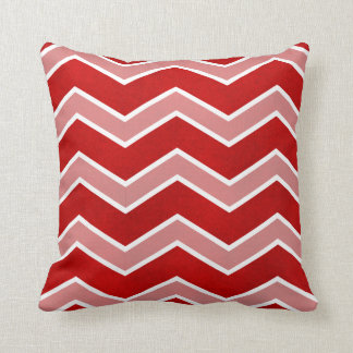Intense Red Watercolor Wash Large Chevron Pillow