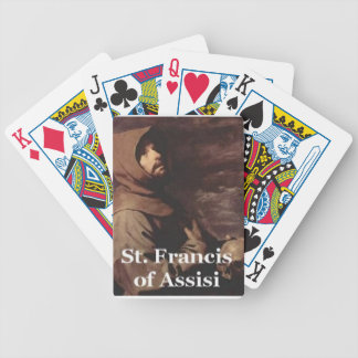 Intense St Francis Assisi gift Franciscan Playing Cards