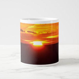 Intense sunset giant coffee mug
