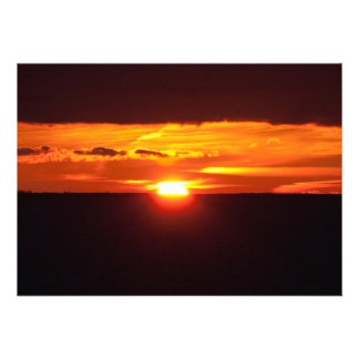 Intense sunset personalized invitations
