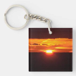 Intense sunset keychain
