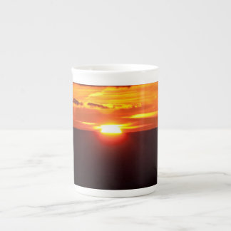 Intense sunset tea cup