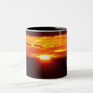 Intense sunset Two-Tone coffee mug