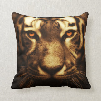 Intense Tiger Eyes Pillow