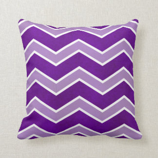 Intense Violet Watercolor Wash Lrge Chevron Pillow