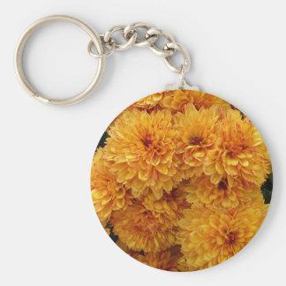 Intense yellow keychain