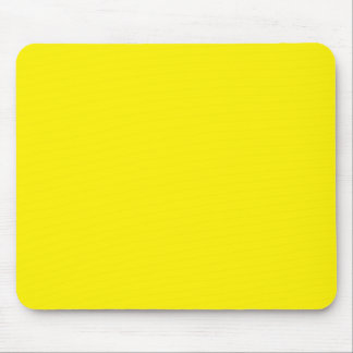 Intensely Brilliant Yellow Color Mouse Pad