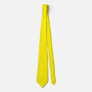 Intensely Brilliant Yellow Color Neck Tie