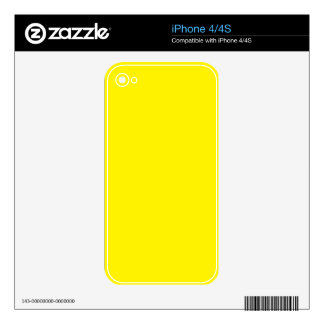 Intensely Brilliant Yellow Color Skin For The iPhone 4