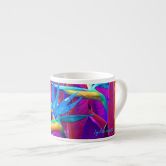 Intensely colored espresso mug