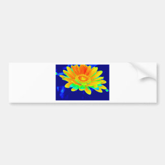 Intensely Colored Floral Bumper Sticker