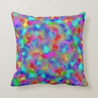 Intensely Hued Chromatism Throw Pillow