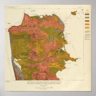 Intensidad de San Francisco del terremoto Impresiones