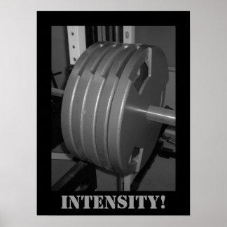 ¡INTENSIDAD! Poster del gimnasio del ejercicio del