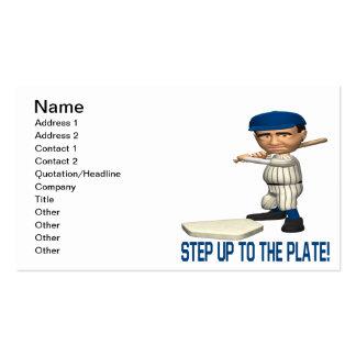 Intensifique a la placa plantilla de tarjeta de negocio