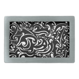 Intensity black on white belt buckle