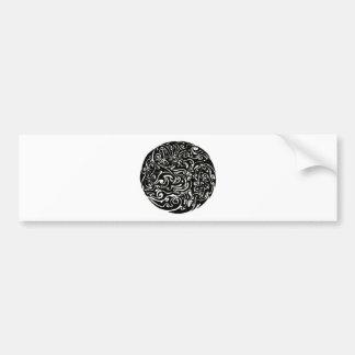 Intensity black on white car bumper sticker