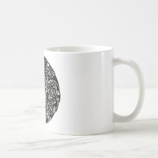 Intensity black on white coffee mug