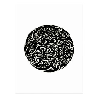 Intensity black on white postcard