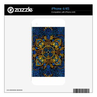 Intensity - contrast mandala pattern skins for the iPhone 4