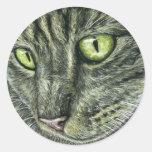 Intenso - arte del gato pegatinas